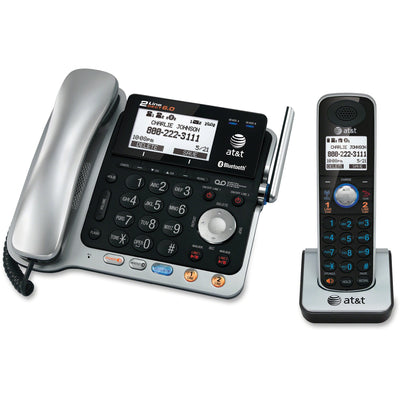 AT&T Connect to Cell TL86103 DECT 6.0 Cordless Phone   Silver Black