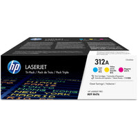 HP 312A Original Toner Cartridge - Tri-pack - Laser - Standard Yield - 27000 Pages - Cyan, Magenta, Yellow - 3 / Box