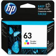 HP 63 Original Ink Cartridge - Single Pack - Inkjet - 165 Pages - Tri-color - 1 Each