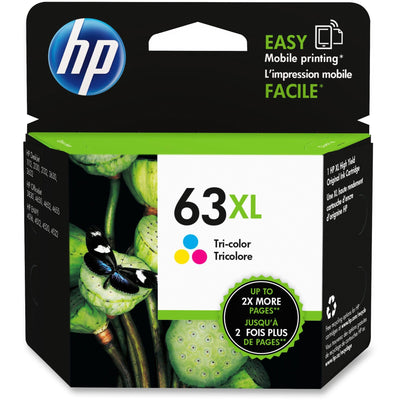 HP 63XL Original Ink Cartridge - Single Pack - Inkjet - High Yield - 330 Pages - Tri-color - 1 Each