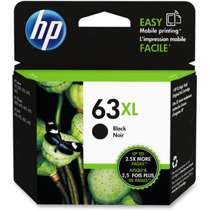 HP 63XL Original Ink Cartridge - Single Pack - Inkjet - High Yield - 480 Pages - Black - 1 Each