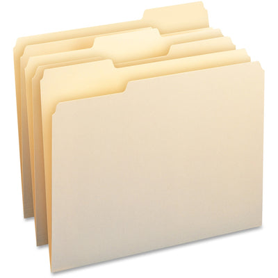 Business Source WaterShed Manila File Folders - Letter