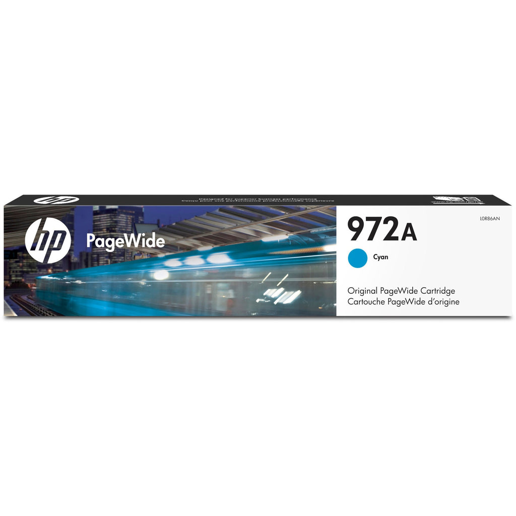 HP 972A Original Ink Cartridge - Single Pack - Page Wide - Standard Yield - 3000 Pages - Cyan - 1 Each