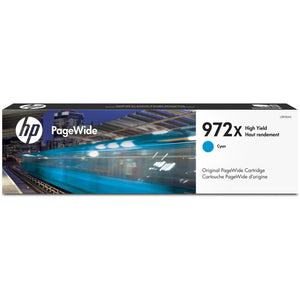 HP 972X Original Ink Cartridge - Single Pack - Page Wide - High Yield - 7000 Pages - Cyan - 1 Each