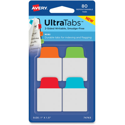 Avery UltraTabs Repositionable Mini Tabs 80pk