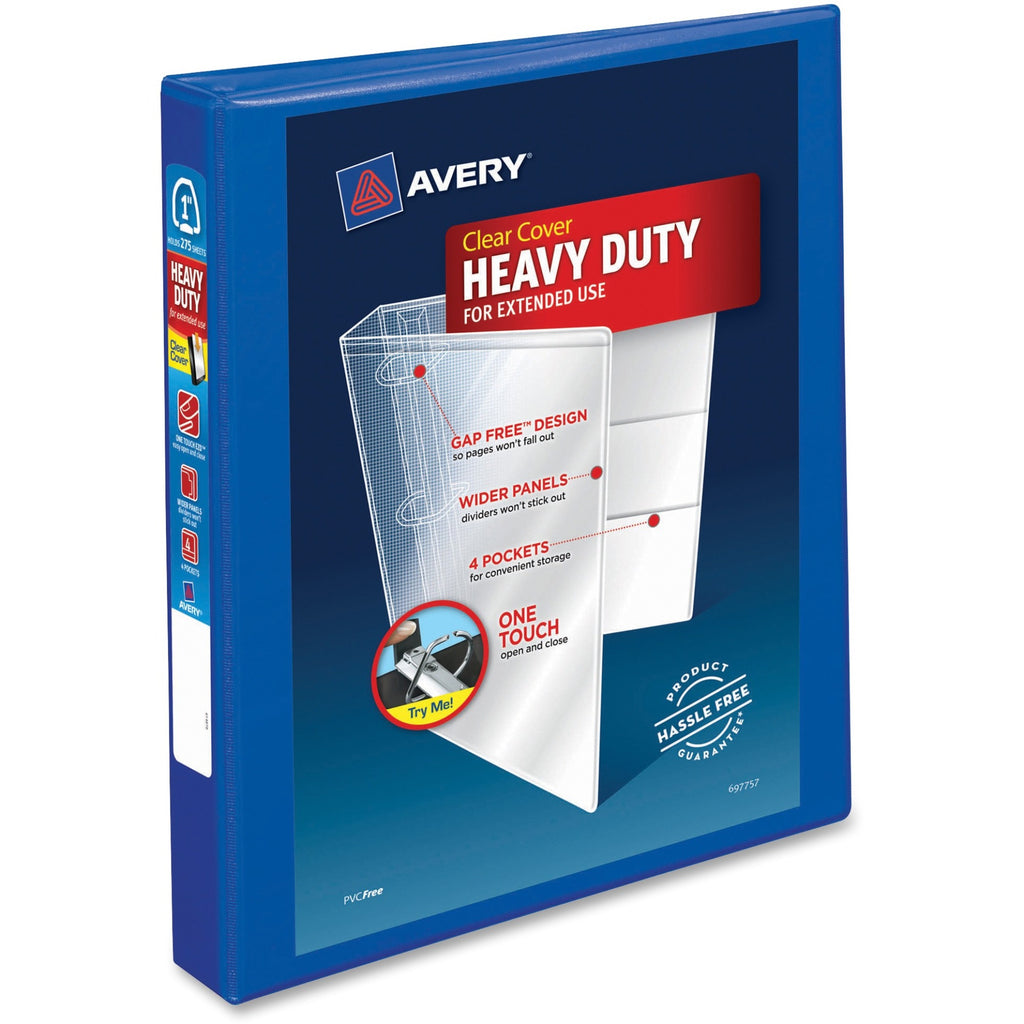 Avery Heavy Duty View Binders with Locking One Touch EZD Rings 1""