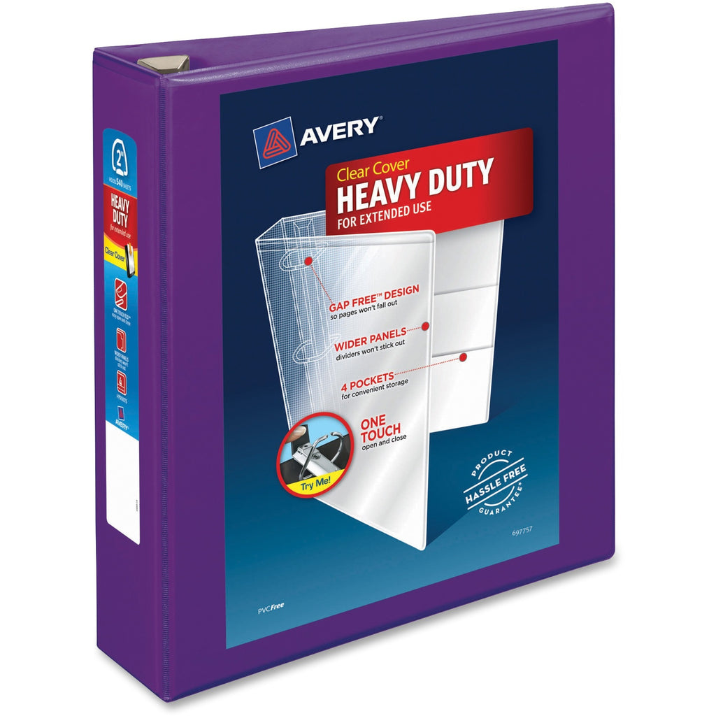 Avery Heavy Duty View Binders with Locking One Touch EZD Rings 2""