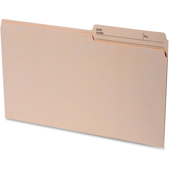Continental 2 sided Tab Legal File Folders