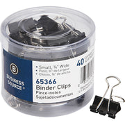Business Source Small Binder Clips 40PK