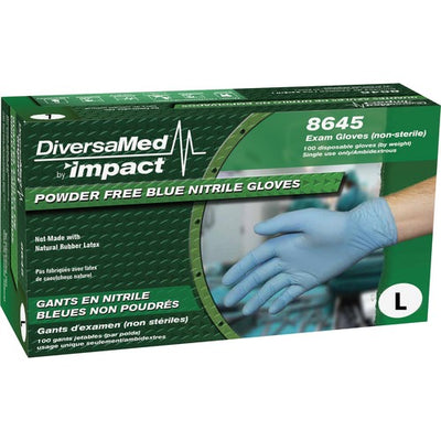 ProGuard Disposable Nitrile Powder Free Exam - Size Lg - 100/Box