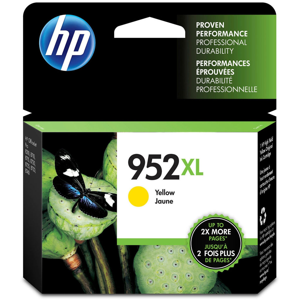 HP 952XL Original Ink Cartridge - Single Pack - Inkjet - High Yield - 1600 Pages - Yellow - 1 Pack