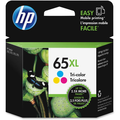 HP 65XL Original Ink Cartridge - Single Pack - Inkjet - High Yield - 300 Pages - Cyan, Magenta, Yellow - 1 Pack