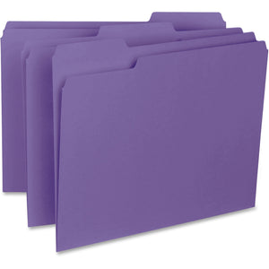 Business Source 1/3-cut Colored Interior File Folders - Letter
