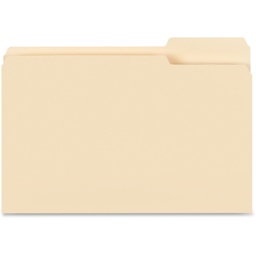 Business Source 1/3-cut Tab Legal Manila File Folders - Legal