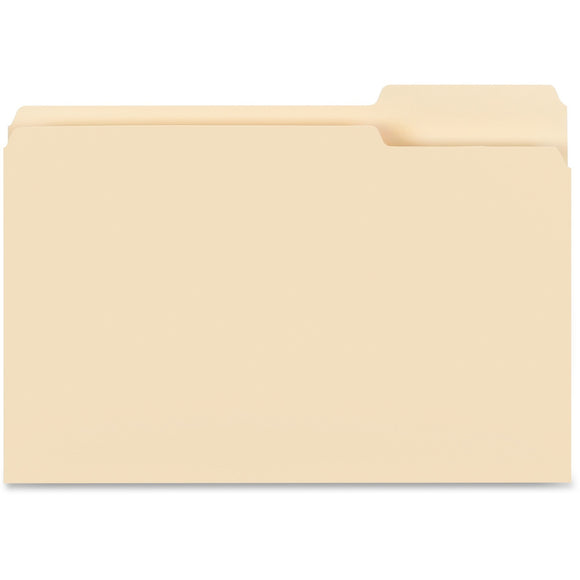 Business Source 1 3 cut Tab Legal Manila File Folders