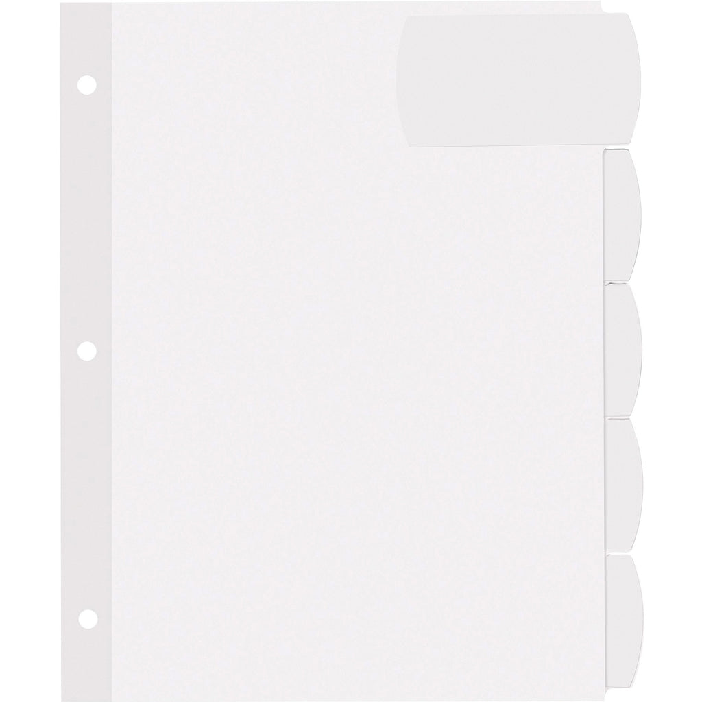 Avery Big Tab Large White Label Tab Dividers  5 Tabs, 4 Sets