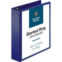 "Business Source D Ring View Binder - 2"" Binder Capacity"