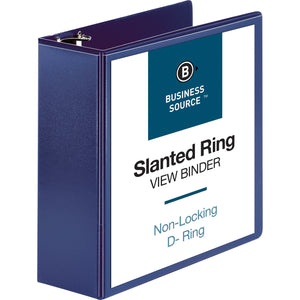 "Business Source D Ring View Binder - 4"" Binder Capacity"