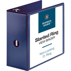 "Business Source D Ring View Binder - 5"" Binder Capacity"
