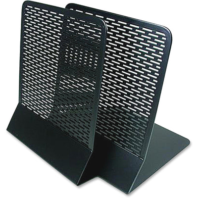Artistic  Urban Collection Punched Metal Bookends   Black