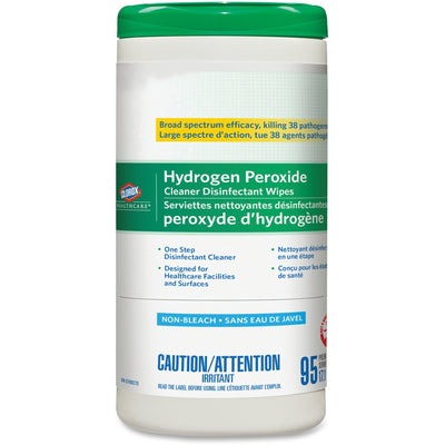 Clorox Healthcare Hydrogen Peroxide Cleaner Disinfecting Wipes 95ct Cannister - Wipe - 6.75