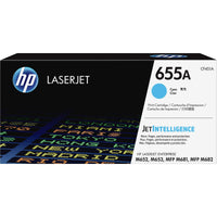 HP 655A Original Toner Cartridge - Cyan - Laser - 10500 Pages - 1 Each