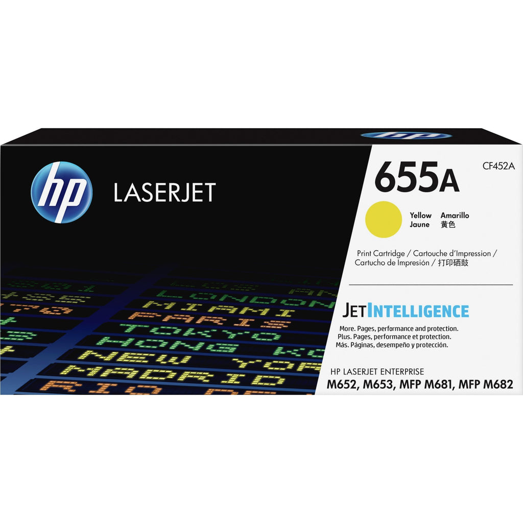 HP 655A Original Toner Cartridge - Yellow - Laser - 10500 Pages - 1 Each