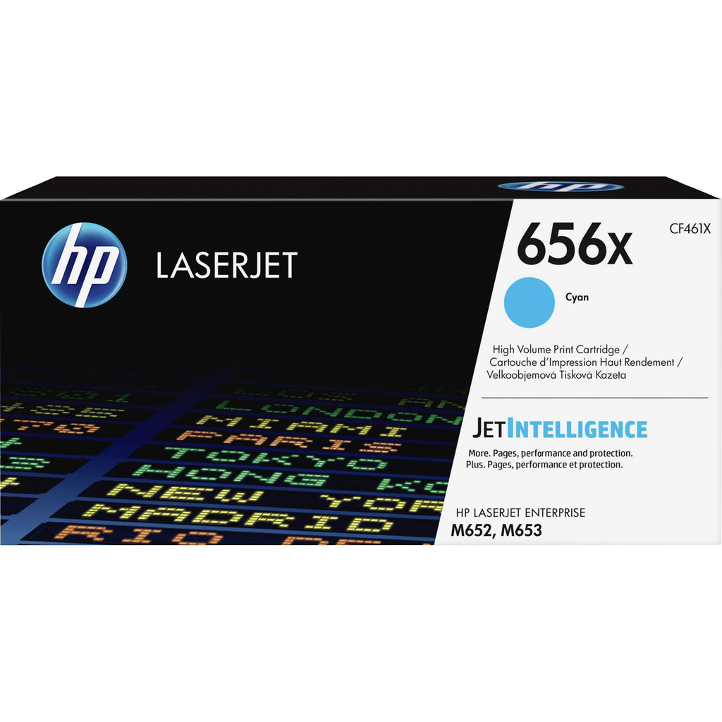 HP 656X (CF461X) Toner Cartridge - Cyan - Laser - High Yield - 22000 Pages - 1 Each