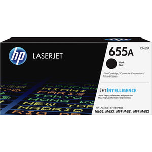 HP 655A Original Toner Cartridge - Black - Laser - 12500 Pages - 1 Each