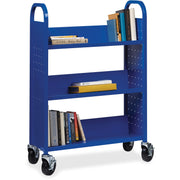 Lorell Single sided Steel Book Cart