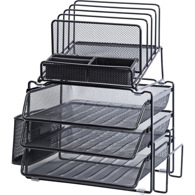 Lorell Divided 4 tier Desktop Organizer