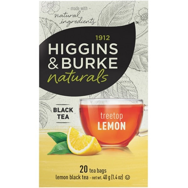 Higgins & Burke Naturals Lemon Black Tea Bags