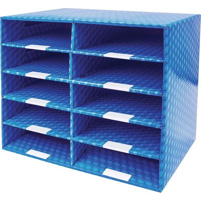 Storex 10 compartment Mailroom Sorter