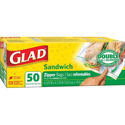 Glad Sandwich Zipper Bags - 6.63