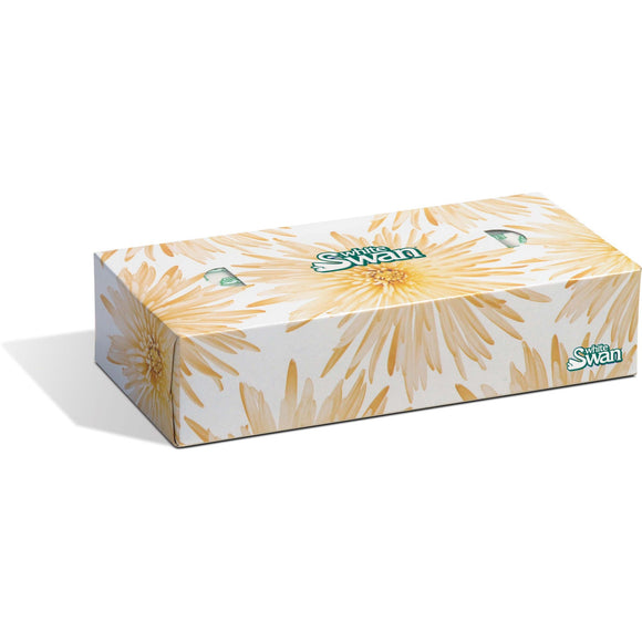 White Swan 2 Ply Facial Tissue