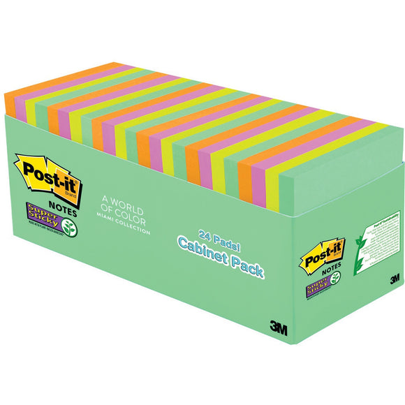 Post it Miami Super Sticky Notes Cabinet Pack