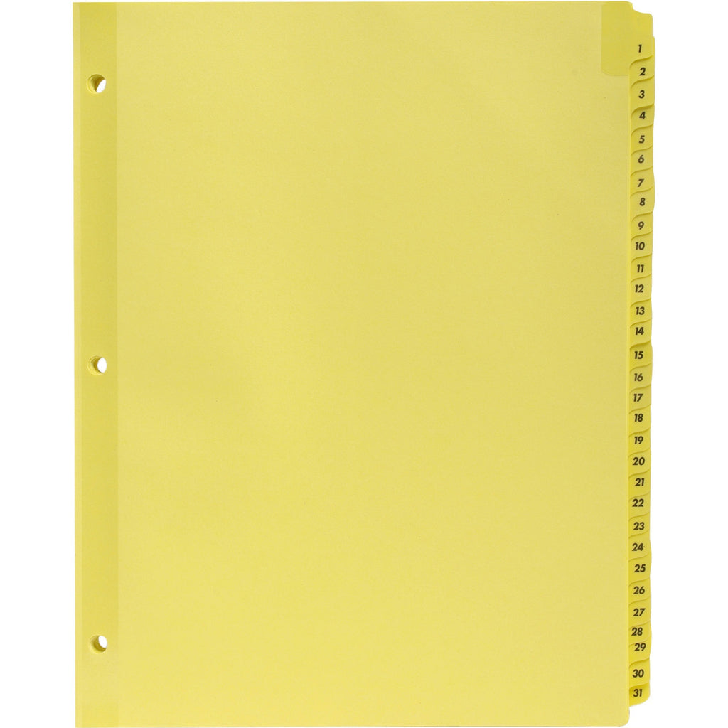 "Business Source Preprinted 1-31 Tab Index Dividers 8.5x11"" 3 hole"