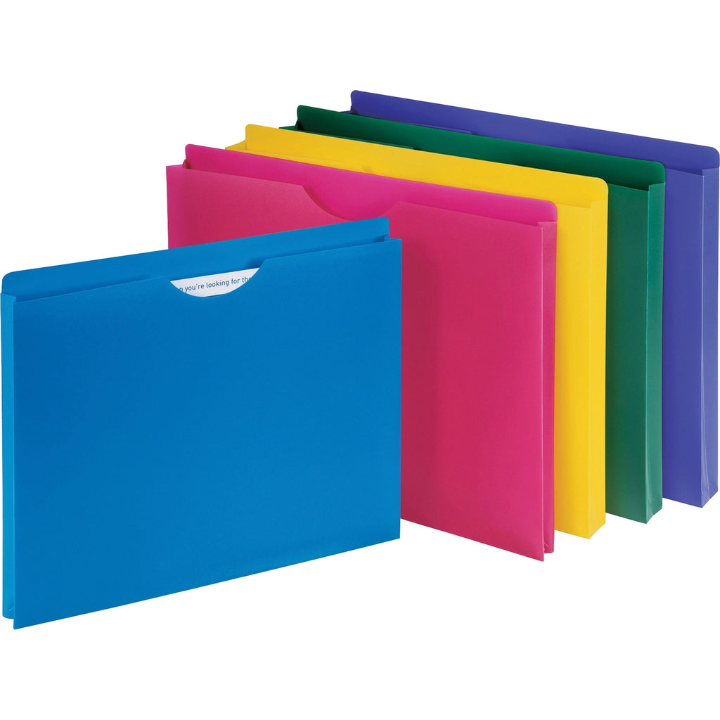 Business Source Poly File Jacket 10PK