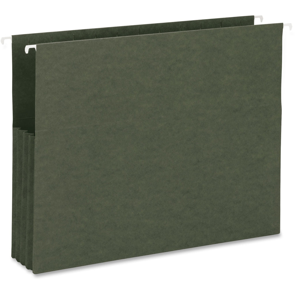 Business Source Hanging File Pockets, letter, 3 1/2 expansion, 10/box