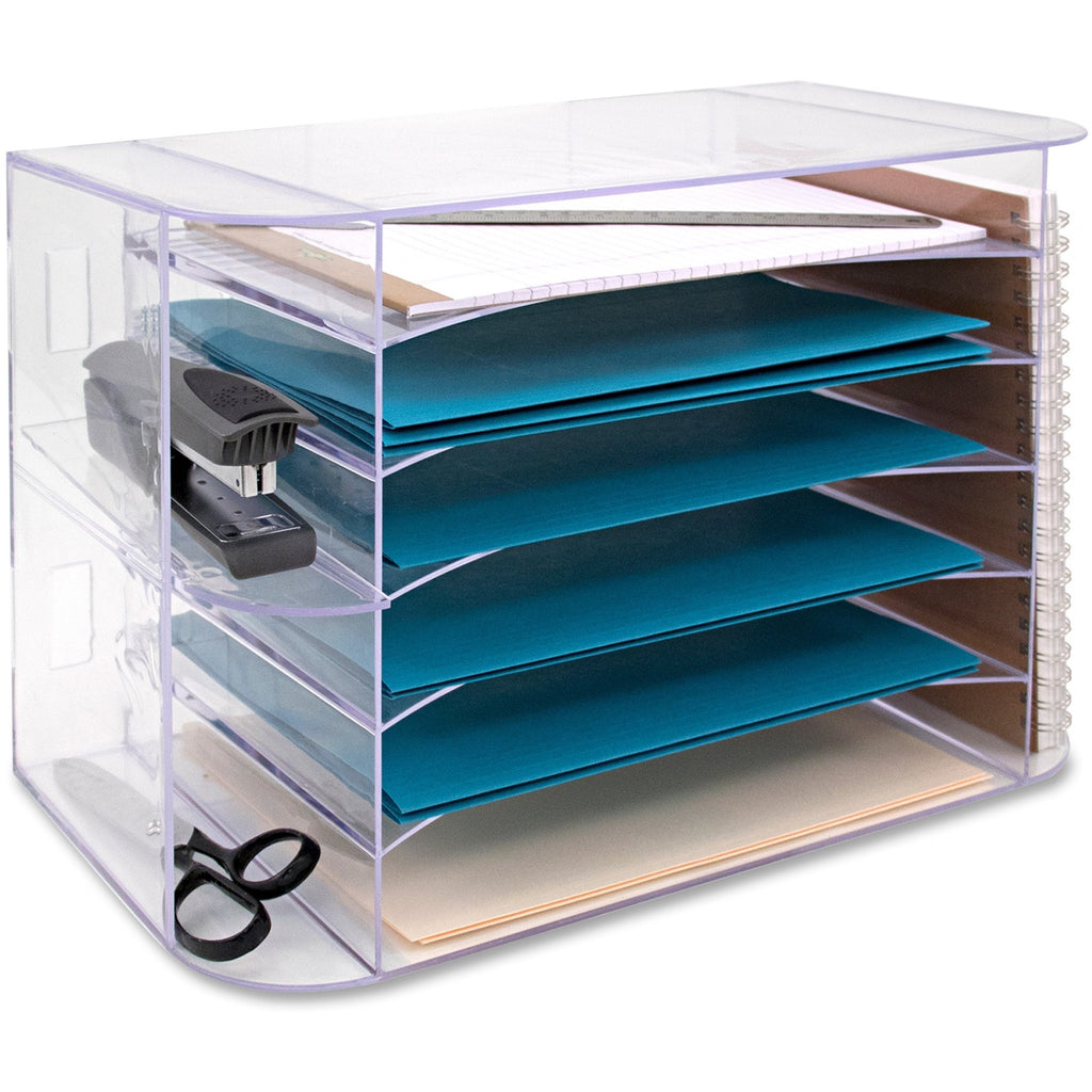 Business Source 6 tray Jumbo Desk Sorter