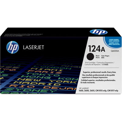 HP 124A Original Toner Cartridge - Single Pack - Laser - Standard Yield - 2500 Pages - Black - 1 Each