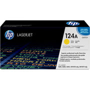HP 124A Original Toner Cartridge - Single Pack - Laser - Standard Yield - 2000 Pages - Yellow - 1 Each