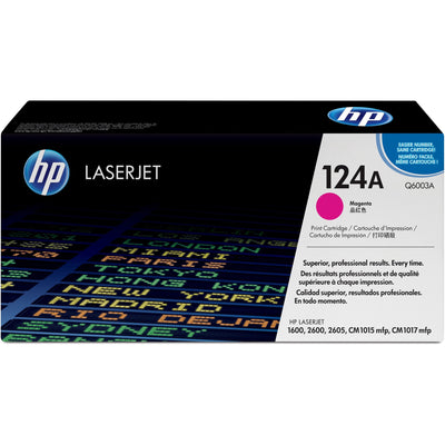 HP 124A Original Toner Cartridge - Single Pack - Laser - Standard Yield - 2000 Pages - Magenta - 1 Each