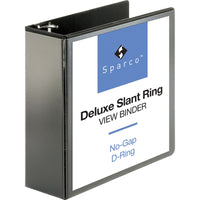Business Source Deluxe Slant Ring View Binder 4""