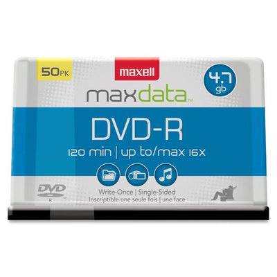 Maxell DVD Recordable Media   DVD R   16x   4.70 GB   50 Pack Spindle