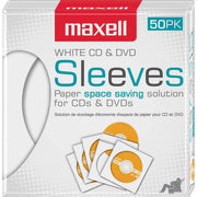 Maxell White CD   DVD Sleeves