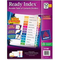 Avery Ready Index Multicolor Tabs, 6 Sets (11196) - 12 x Divider(s)