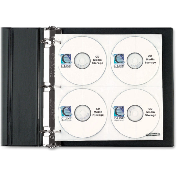 C Line CD DVD Pages Ring Binder Kit