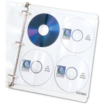C-Line CD/DVD Poly Insert Refill Pages - 10.3