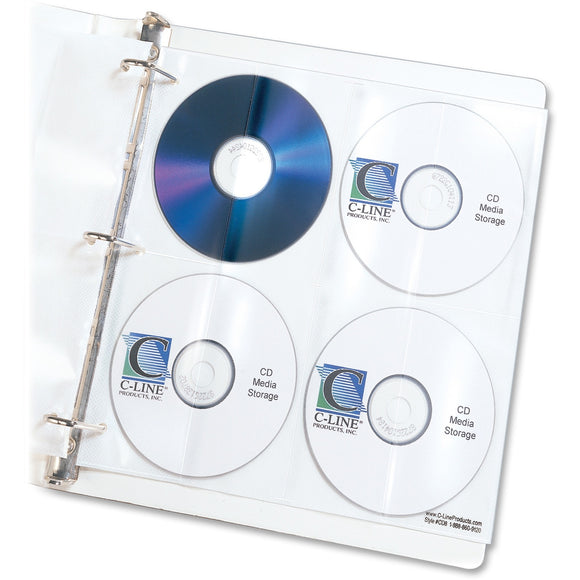 C Line CD DVD Poly Insert Refill Pages